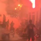 Опубликовано видео жесткой драки российских и английских болельщиков